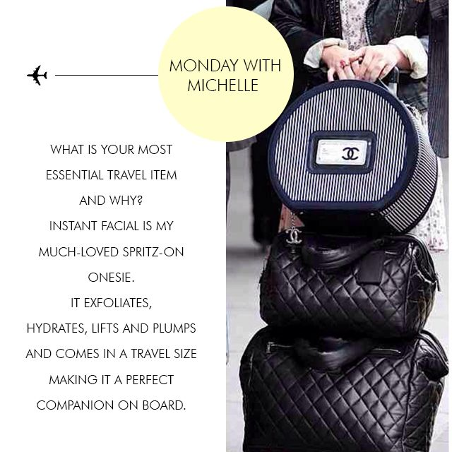 Monday with Michelle | Who is Michelle's #1 travel buddy? Instant Facial.