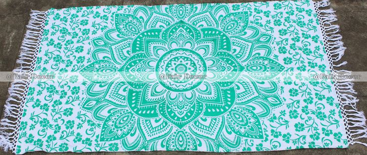 Rama Green Mandala Beach Towel BohemianTapestry Hippie Throw Boho Picnic Mat  http://fairdecor.com/_rama-green-mandala-beach-towel-bohemiantapestry-hippie-throw-boho-picnic-mat