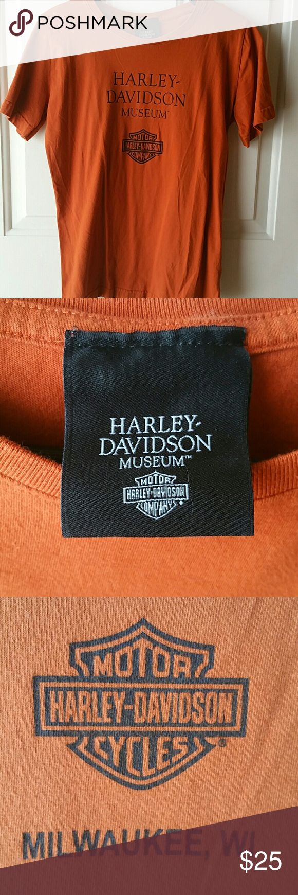 Harley Davidson Museum T-Shirt LIKE NEW Harley Davidson Museum T-Shirt. Size: Medium. Only worn a couple of times. Harley-Davidson Tops Tees - Short Sleeve