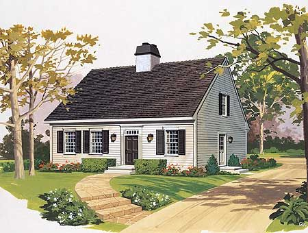 Best Cape Cod Images On Pinterest Cape Cod Houses Vintage - Colonial cape cod style house plans