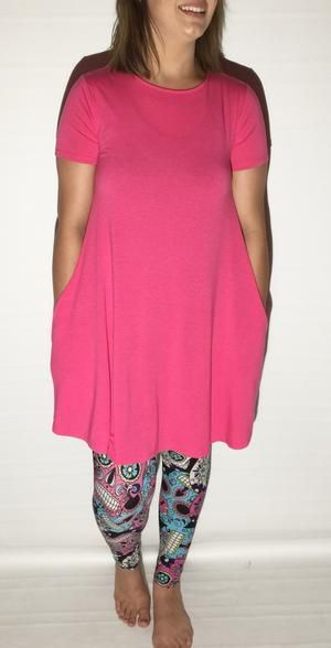 a65a5266e8190f MomMe And More Women s Best Pink Dress Like Lularoe Carly – MomMe and More