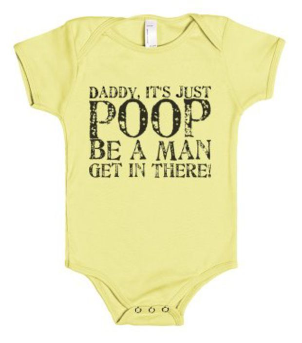 It's Just Poop Daddy-Unisex Lemon Baby Onesuit 00