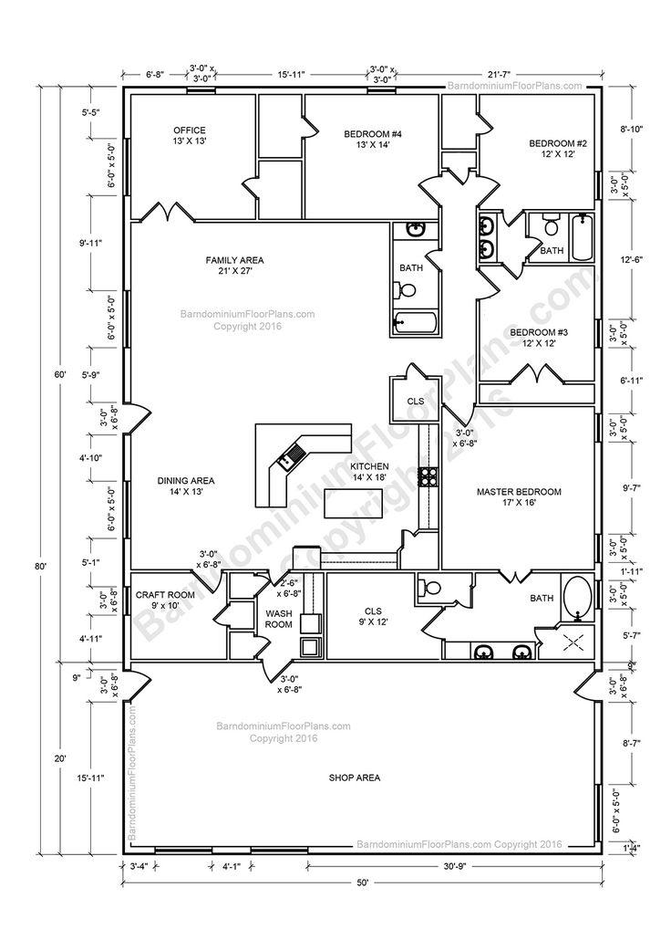 Prime 17 Best Ideas About Barndominium Floor Plans On Pinterest Open Largest Home Design Picture Inspirations Pitcheantrous