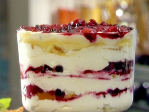 Tyler Florence's Berry Trifle from the FoodNetwork