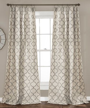 Another great find on #zulily! Gray Geometric Curtain Panel - Set of Two #zulilyfinds