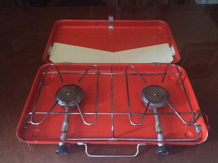 estufa portatil, antigua, excelente