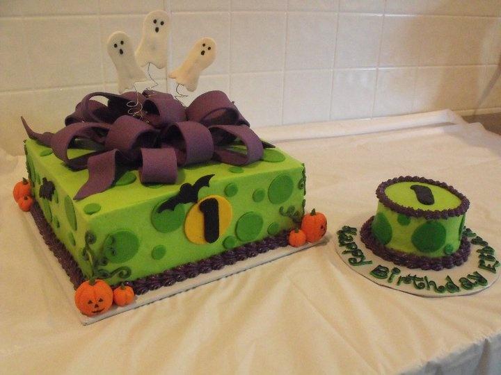 Halloween 1st Birthday Cake