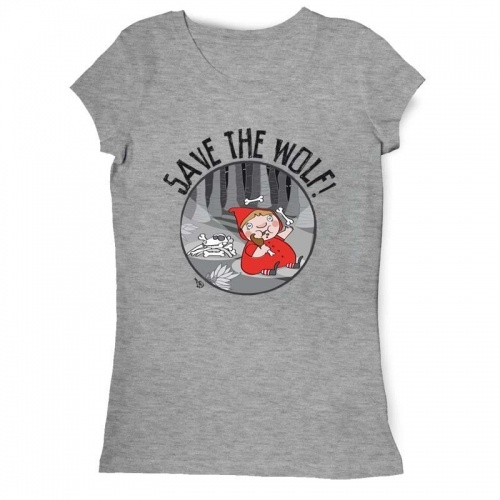 """Save the wolf"" Franco De Nicola t-shirt on sale on www.tee-sign.it"