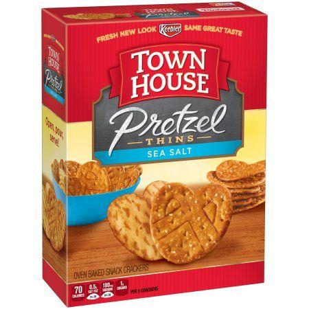 Keebler® Town House® Sea Salt Pretzel Thins Oven Baked Snack Crackers 10 oz. Box