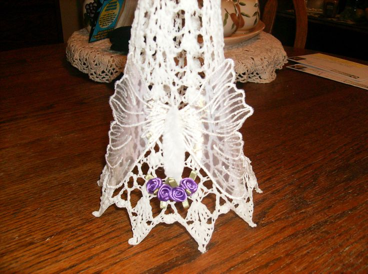 Brain Cancer Angel....Finishing touches on Gown...A Butterfly made of Angel wings.