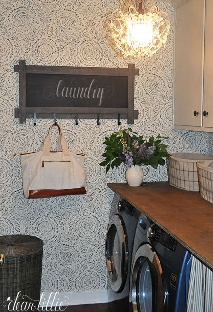 A Little Laundry Room Makeover by Dear Lillie