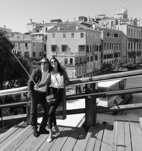 Glamorous Italians with selfie stick....Venice