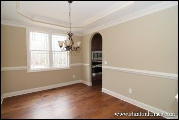 Formal Dining Room With Tray Ceiling The Entrances Are