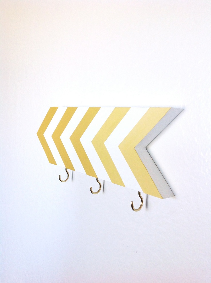 Chevron wall key hook via Etsy. They have a ton of colors and the price is right.