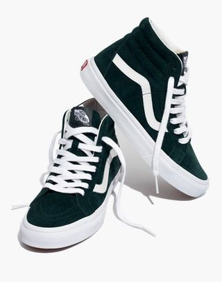 296e810ba5 Vans® Unisex SK8-Hi Reissue High-Top Sneakers in Spruce Suede in darkest  spruce true white image 1