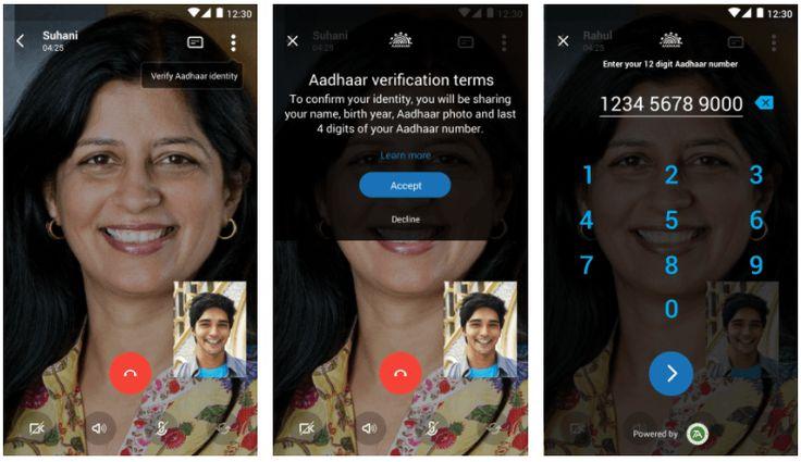 Microsoft's Aadhaar linkage on Skype Lite goes live  #Microsoft #aadhaar #skype #india #live