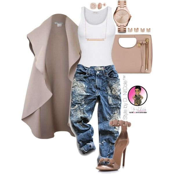 A fashion look from October 2015 by stylebydnicole featuring American Vintage, Levi's, Tom Ford, Monique Péan, Michael Kors, Maison Margiela and Alaïa