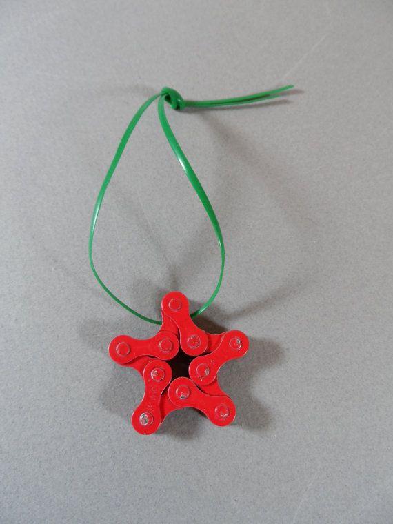 Cadena de Upclyced ornamentos-bicicleta  estrella por auctionannie