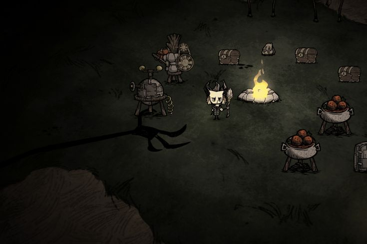 Shadow Creature - Don't Starve game Wiki The shadow hands come and steal logs from the fire, or snuff it out completely. The player has to chase them away. Too creepy?
