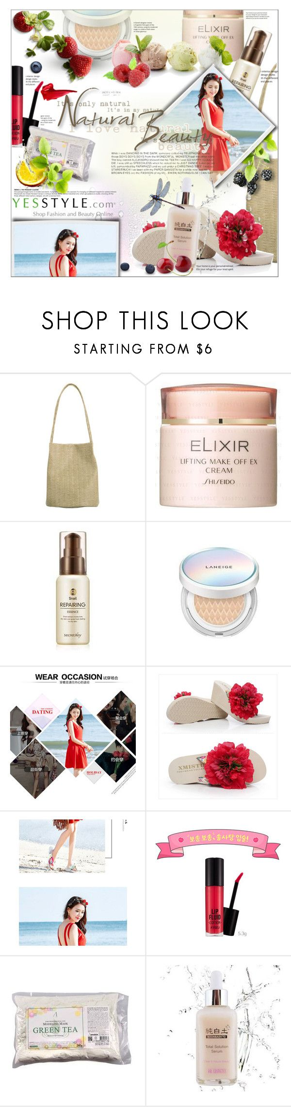 """""""Share you Kbeauty kit and WIN US$40 store coupons!"""" by pashha ❤ liked on Polyvore featuring beauty, Shiseido, Laneige, Sunset Hours and Disney"""