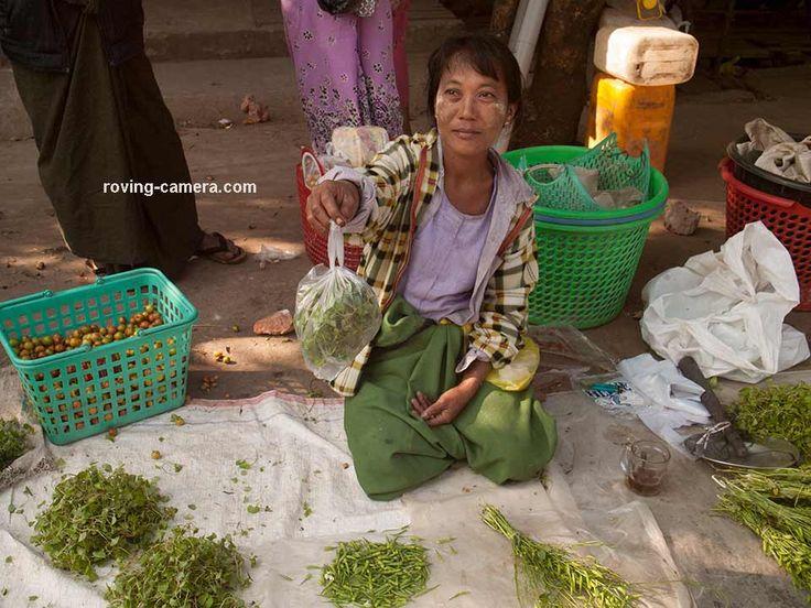 Woman Selling Herbs on the Street, Sittwe, Myanmar