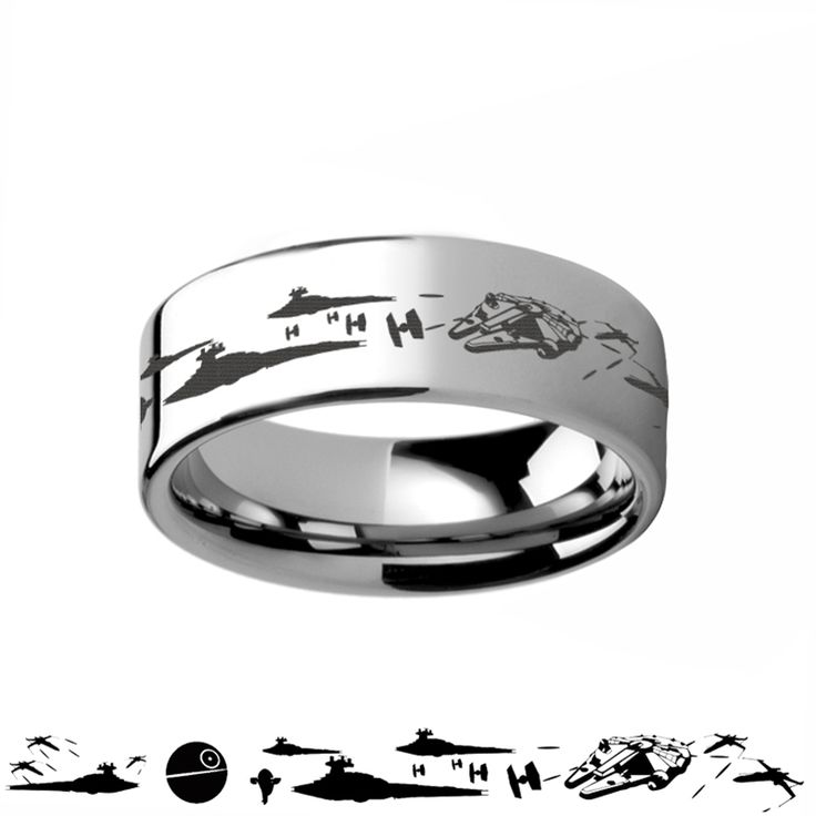 Star Wars A New Hope Death Star Space Battle Tungsten Ring Episode IV - 4mm - 12mm                                                                                                                                                                                 More