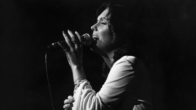 """Karen Carpenter from """"The Carpenters"""", London, 1974.  Read her story & watch some of her videos.  What a golden voice!!"""
