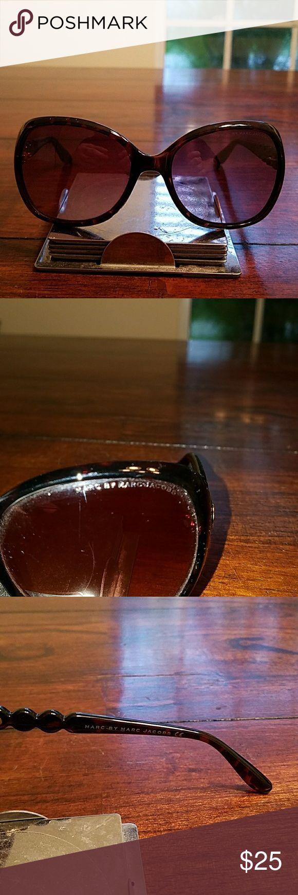 Marc by Marc Jacob's sunglasses Marc by Marc Jacob's brown sunglasses for sale.  Good condition. There are some scratches on the lenses, but it does not affect vision. No case or cleaning cloth. Marc By Marc Jacobs Accessories Sunglasses