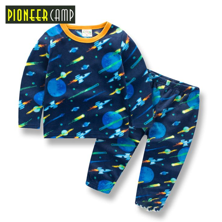 Pioneer Camp Kids 2017 Baby Cartoon Infantil 2-10Y Boy Pajamas Set Girls Set Baby toddler Sleep Wear Clothing baby boy clothes