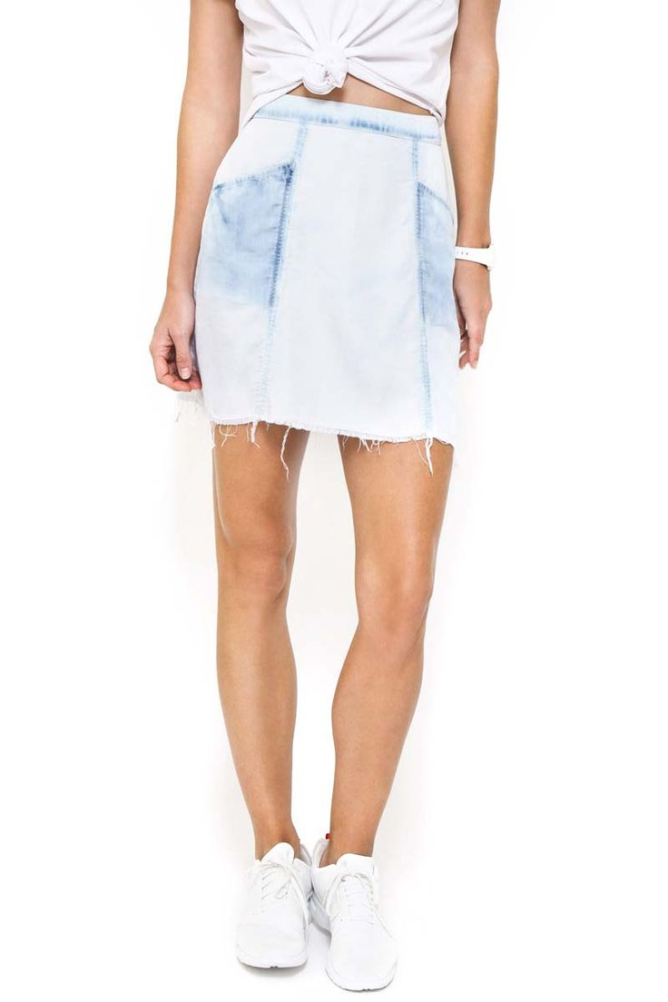 First Base - Chambray A Line Skirt