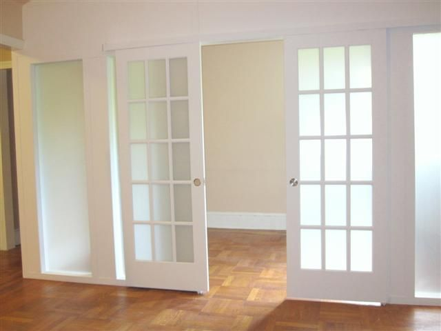 Frosted French Partition Doors
