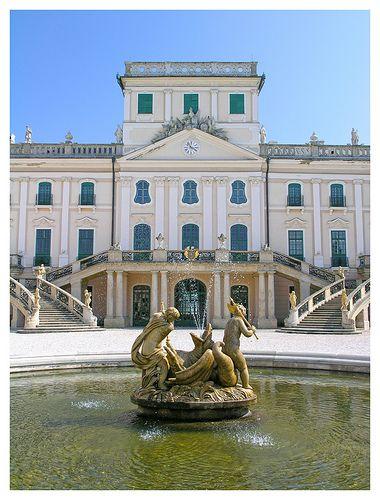 Esterhazy palace front view - Fertőd, Hungary
