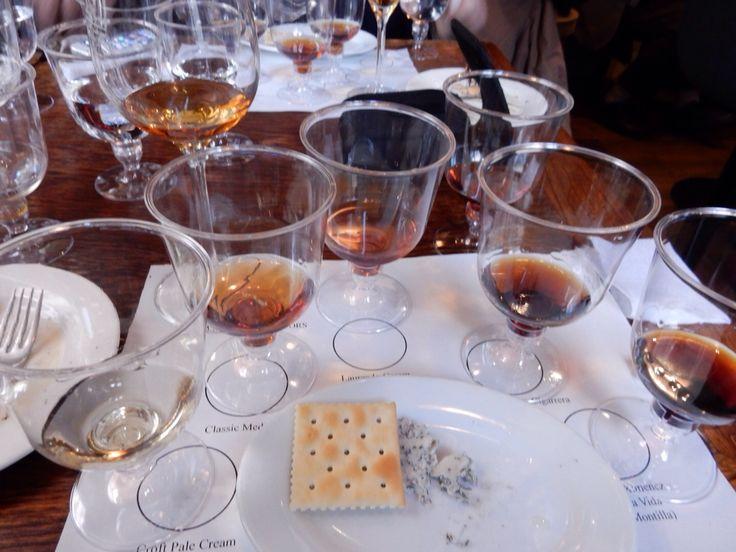 Sherry & Montilla Seminar at Bar ECHEGARAY in Tokyo. Sweet wine flight. 2015 March 14