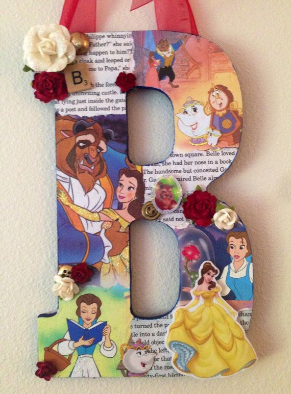 Any Letter in Beauty and the Beast Disney themed by SpikaInteriors