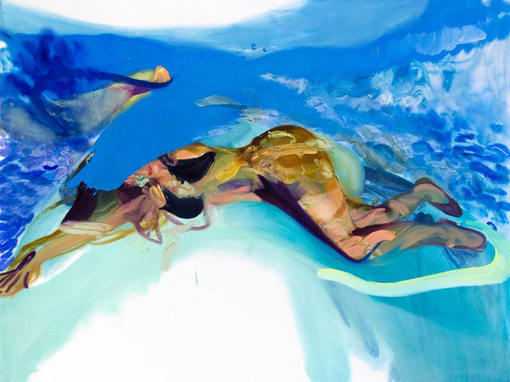 Winston Chmielinksi - Tidal Wave 2013, Oil on canvas 120 x 160 cm. Courtesy of Egbert Baqué Contemporary Art