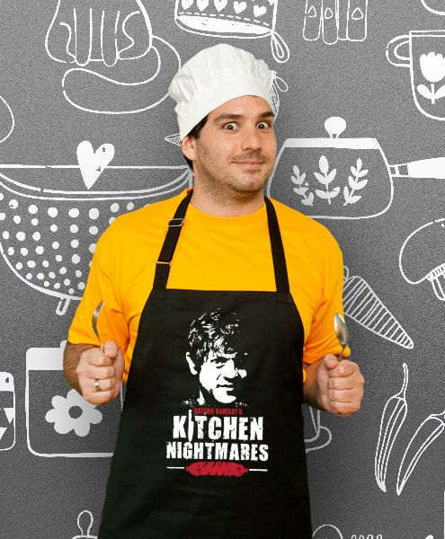 Kitchen Nightmares Cooking Apron Husband Awesome Gift by store365