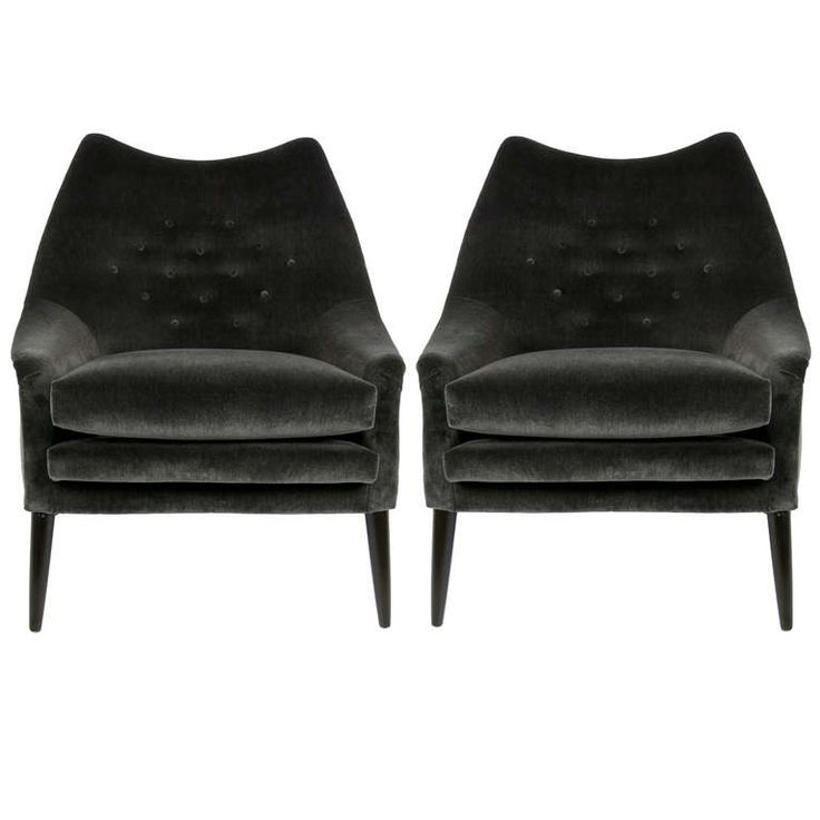 Pair Of Sculptural Lounge Chairs By Lawrence Peabody