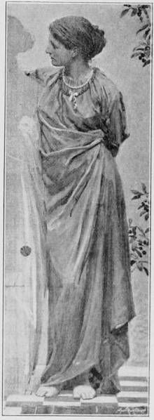 "Study for ""Topaz"" by Joseph Moore, ARWS 1841-1893"