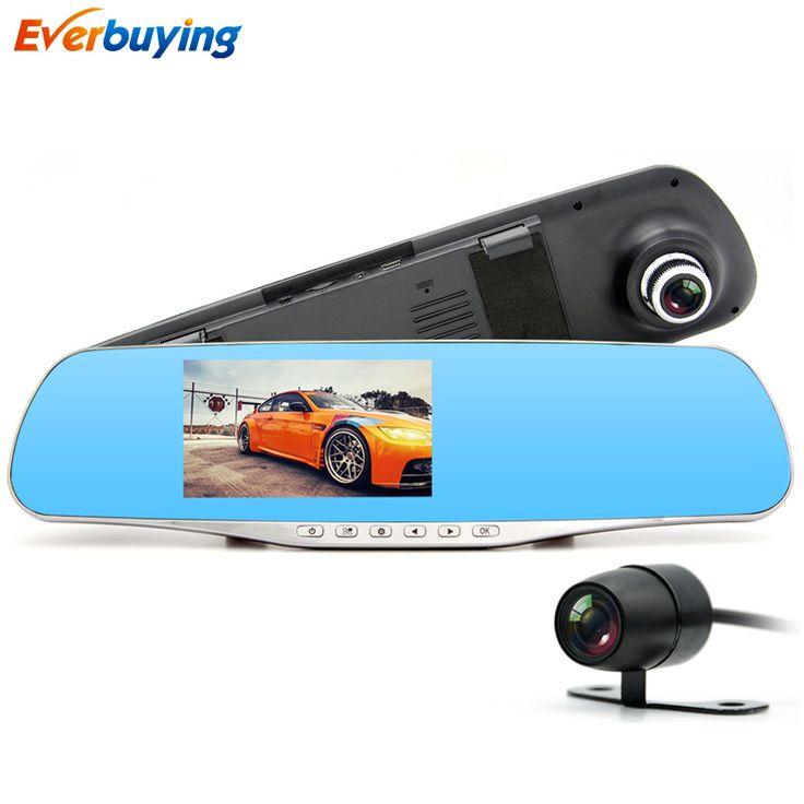 Junsun Dual Lensa Mobil DVR Kamera Spion Cermin Perekam Video Dash Cam Parkir Monitor Auto Kamera Anti cermin dvr