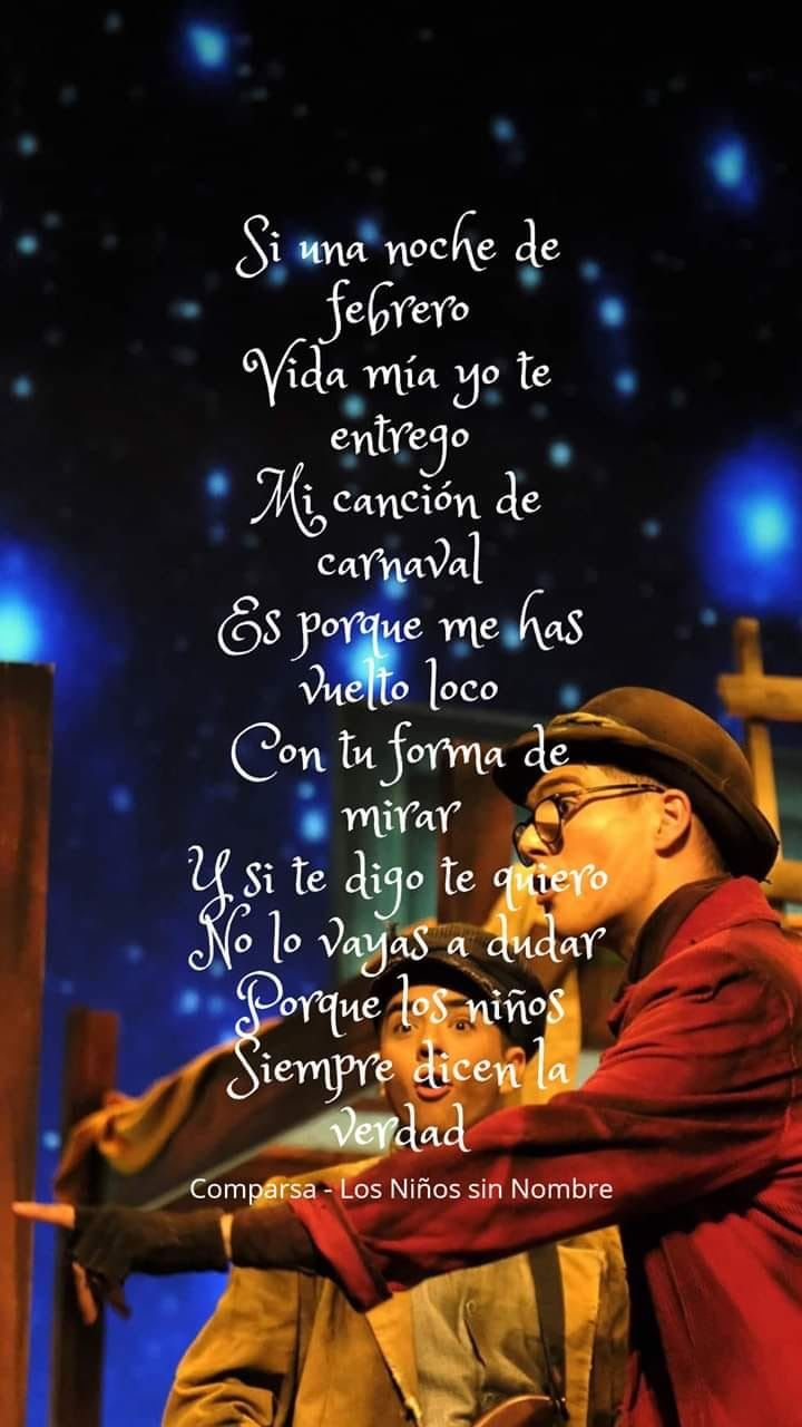 Comparsa Los Niños Sin Nombre Carnaval Verdades Y Canciones