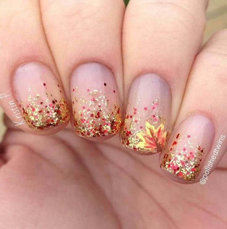 32 Gorgeous Nail Art Images Inspired By Summer Motifs: Pin By Krista Harlow On NAILS: DESIGNS; FALL