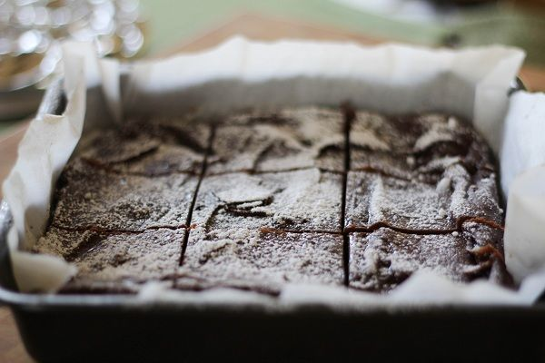 Gluten Free Garbanzo Bean Brownies - you'd never guess these delicious, fudgey brownies are made with beans! | http://www.theroastedroot.net