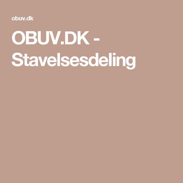 OBUV.DK - Stavelsesdeling