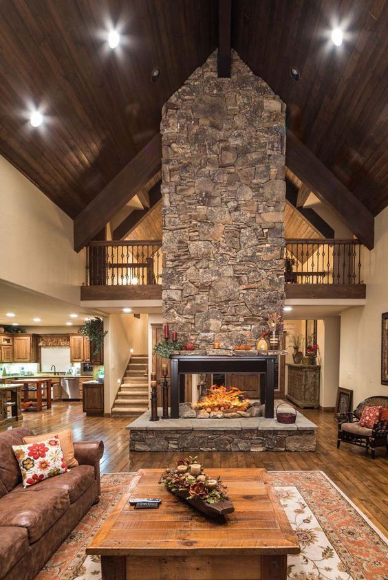 Gorgeous free-standing fireplace in Sunriver, Oregon