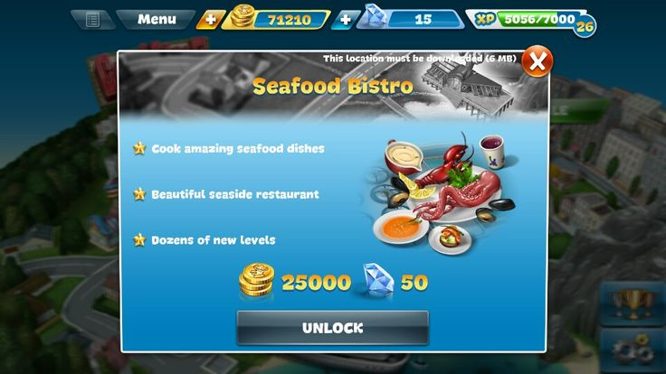 There is a 30% sale on the Seafood Bistro. How much is the new price?