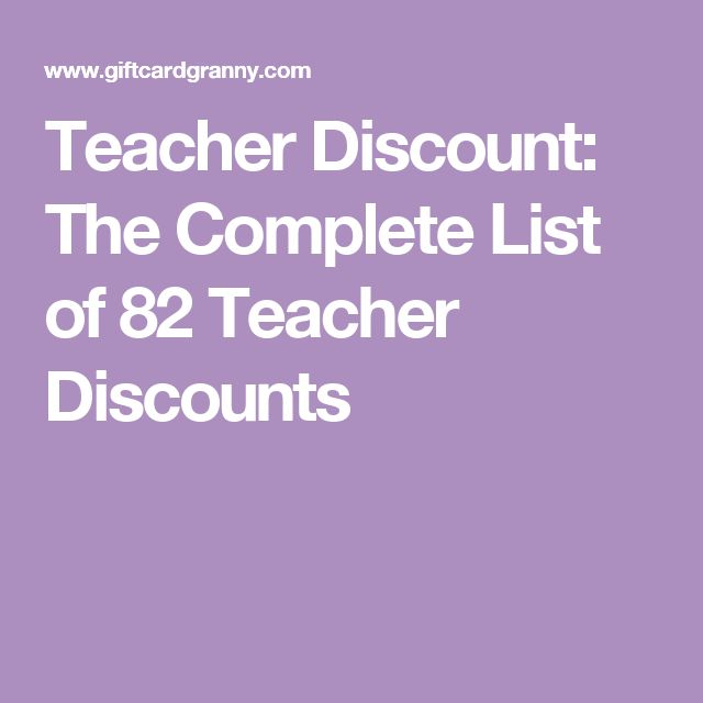 Teacher Discount: The Complete List of 82 Teacher Discounts