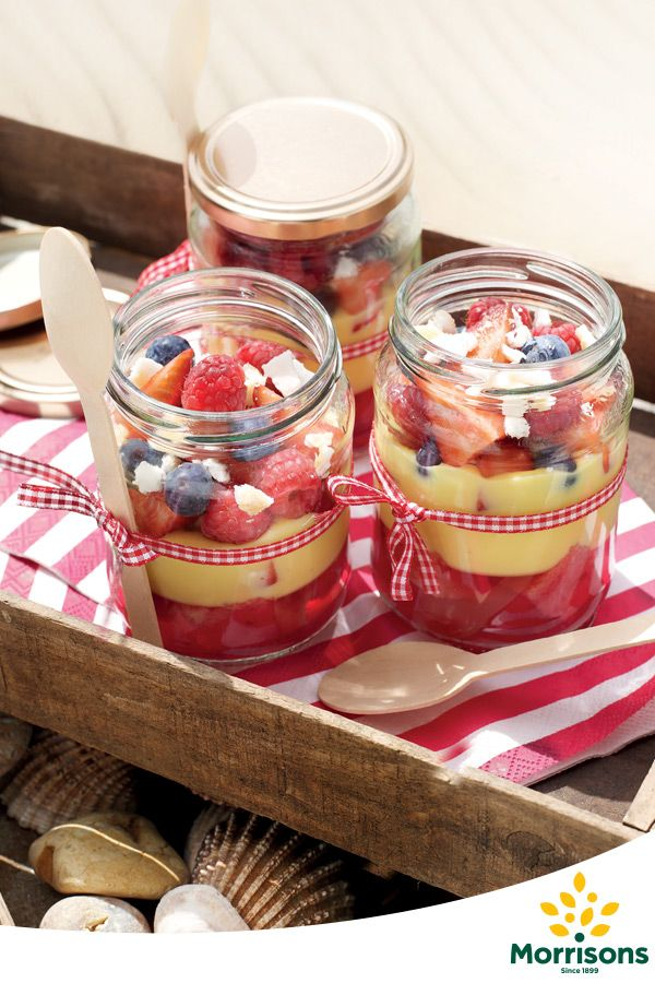 This trifle recipe is a classic, well-loved dessert. This spin on the traditional pudding recipe uses coconut and berry flavours for a real treat. Serving these trifles up in individual jars mean everyone gets their share this Blue Monday, though you might have to make enough for seconds!