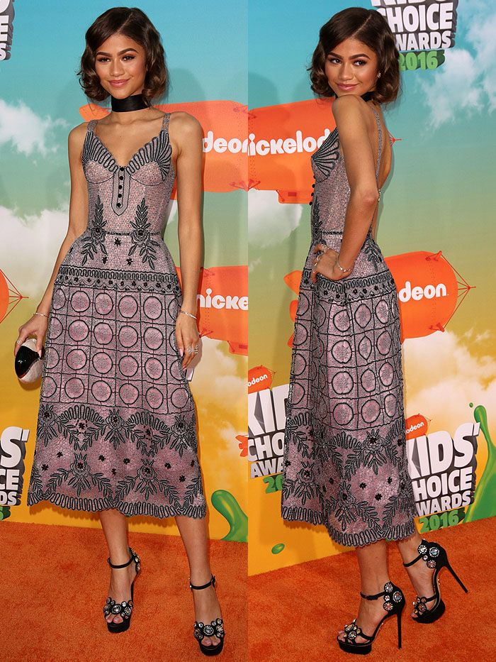 Zendaya Coleman arriving at the 2016 Kids' Choice Awards held at The Forum in Los Angeles, California, on March 12, 2016