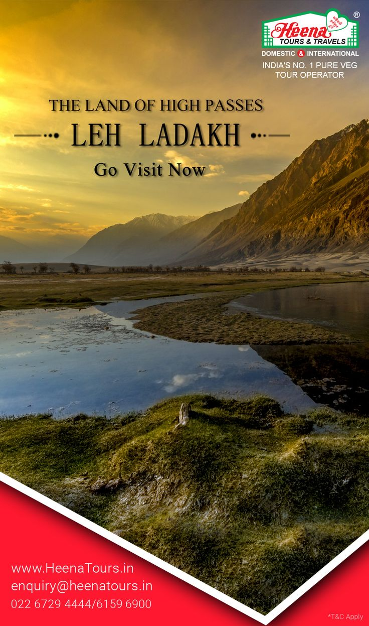 Leh Ladakh - The Land of High Passes..!! The breathtaking beauty, combined with the warm and friendliness of the locals is what draws one to Leh Ladakh; Explore Pangong Lake, Snow-capped Peaks, Zanskar Rivers, Folk Dance Show and many more serene places that will blow your mind. Be assured of us providing you with the best of the Leh Ladakh tour packages.