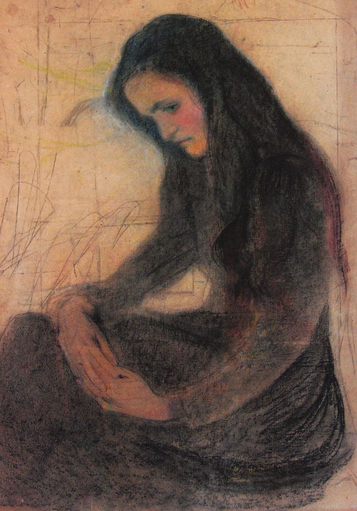 Stanisław Wyspiański (Polish,1869-1907)....There is a Shame of Nobleness-/ Confronting Sudden Pelf-/ A finer Shame of Ecstasy-/ Convicted of Itself-. ..A best Disgrace- Brave Man feels-/ Acknowledged- of the Brave-/ One More- Ye Blessed- to be told-/ But this- Involves the Grave...Emily Dickinson